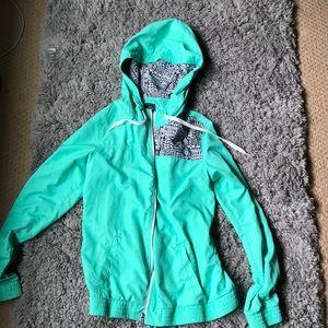 Teal Tillys rain jacket